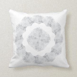 0101 White Peacock 4, 20x20 Throw Pillow