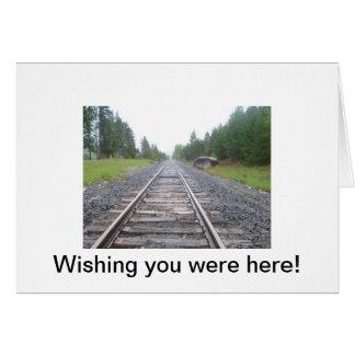 016, Wishing you were here! Greeting Card
