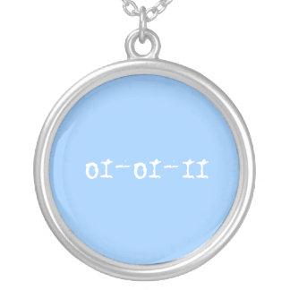01-01-11, Wedding date necklace