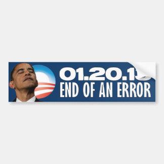 01.20.13 - End of an Error - Anti Obama Bumper Sticker