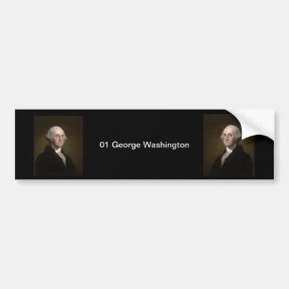 01 George Washington Bumper Sticker