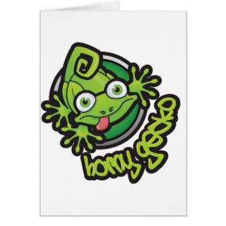 01 Horny Gecko Logo colour Card