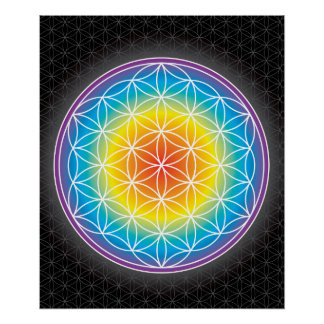 01 LUMINENCE - Flower of Life Poster