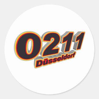 0211 Duesseldorf Classic Round Sticker