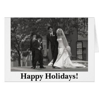 0229 b&w, Happy Holidays! Card