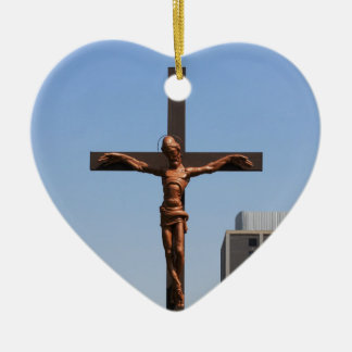 0234 Holy Cross.JPG Ceramic Heart Ornament