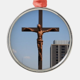 0234 Holy Cross.JPG Silver-Colored Round Ornament