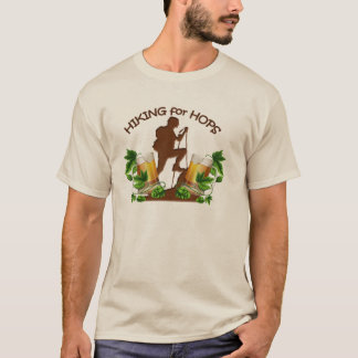(02)The Hiking for Hops Mens Long Sleeve Basic Tee