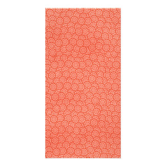 02R PINK RED GEARS  BACKGROUND PATTERN LAYERED TEX PHOTO GREETING CARD