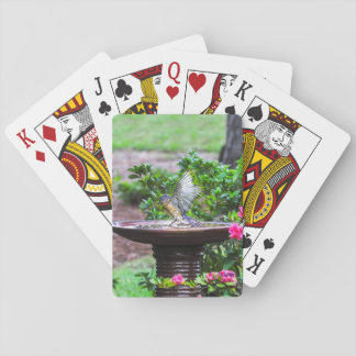 030 Bluebird Bath Playing Cards