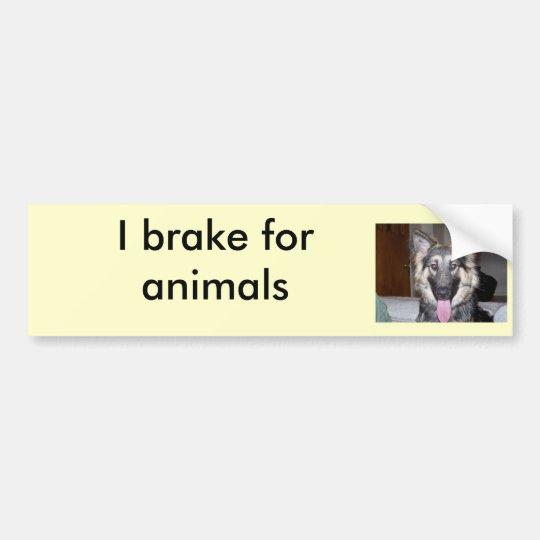 038, I brake for animals Bumper Sticker