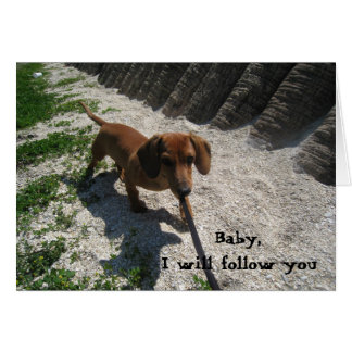 03-21-10 118, Baby,I will follow you Card