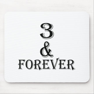 03 And  Forever Birthday Designs Mouse Pad