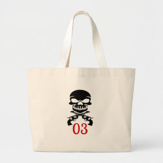 03 Birthday Designs Large Tote Bag