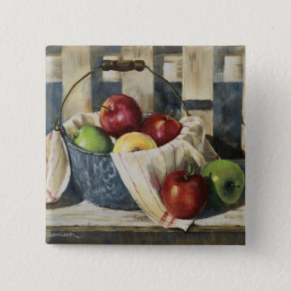 0449 Apples in Enamelware Pail 2 Inch Square Button