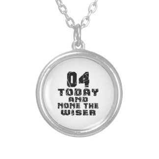 04Today And None The Wiser Silver Plated Necklace
