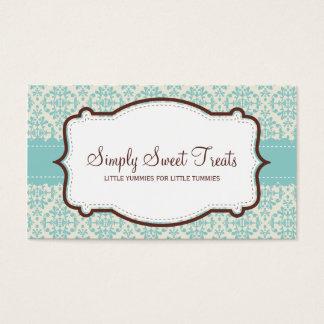 055-Amy :: business card -  funky damask v1