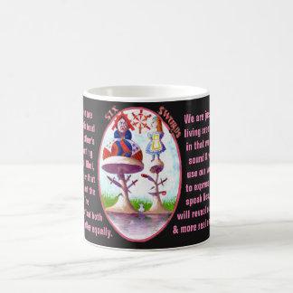 06. Six of Swords - Alice Tarot Coffee Mug