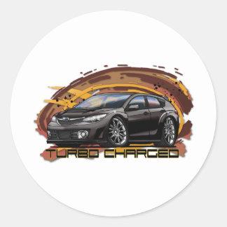 07-11_WRX_Black Round Sticker