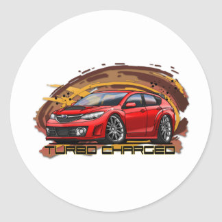 07-11_WRX_Red Round Sticker