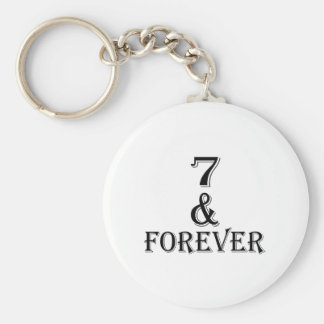 07 And  Forever Birthday Designs Keychain