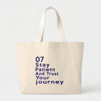 07 Birthday Designs Large Tote Bag