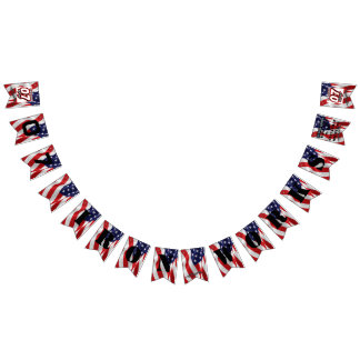 """07 Iron Works """"Old Glory"""" Gregg Racing Bunting Flags"""