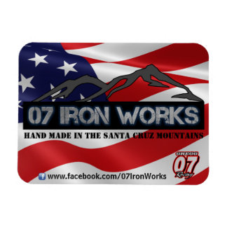 "07 Iron Works ""Old Glory"" Gregg Racing Magnet"