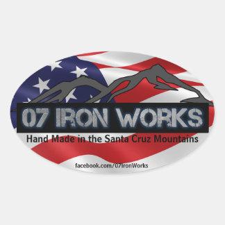 "07 Iron Works ""Old Glory"" Oval Sticker"