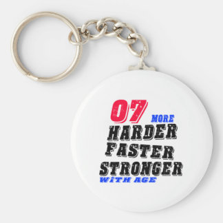 07 More Harder Faster Stronger With Age Keychain