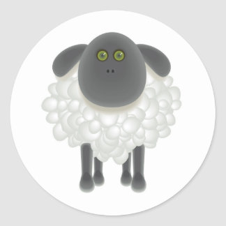 07 Sheep Classic Round Sticker