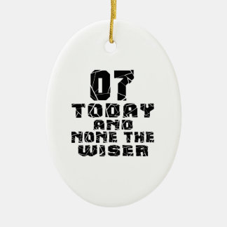 07 Today And None The Wiser Ceramic Oval Ornament