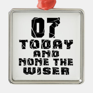 07 Today And None The Wiser Silver-Colored Square Ornament