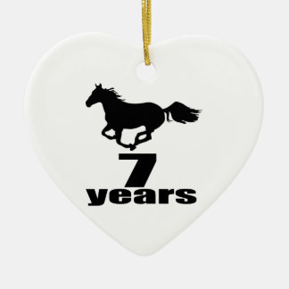 07 Years Birthday Designs Ceramic Ornament