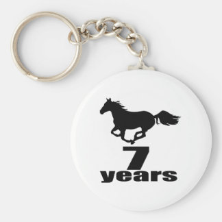 07 Years Birthday Designs Keychain