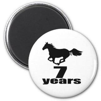 07 Years Birthday Designs Magnet