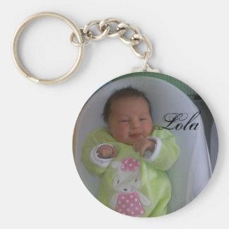 08022010069, Lola Basic Round Button Keychain