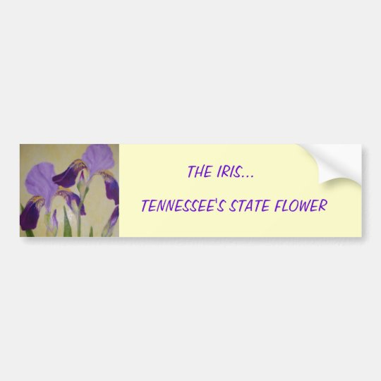 087, THE IRIS..., TENNESSEE'S STATE FLOWER BUMPER STICKER