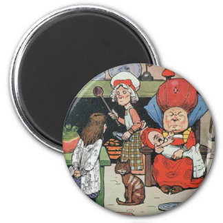 08 - Alice in Kitchen 2 Inch Round Magnet