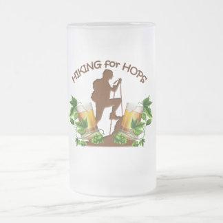 (08)Hiking for Hops Frosted 16 oz Mug