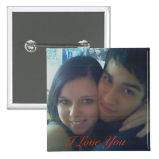 08, I Love You 2 Inch Square Button