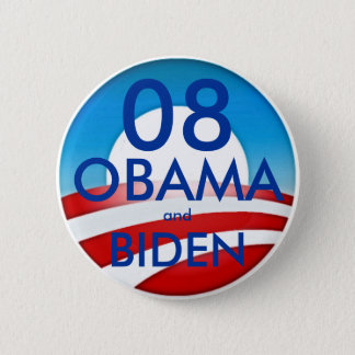 08 OBAMA and BIDEN 2 Inch Round Button