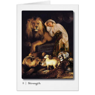08 Strength Tarot Greeting Card