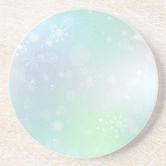 08 Winter Multicolor Snowflakes Beverage Coasters