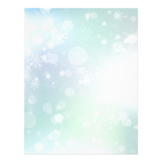 08 Winter Multicolor Snowflakes Letterhead Design