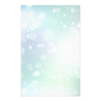 08 Winter Multicolor Snowflakes Stationery Paper