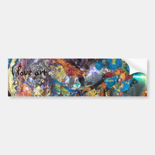 091708#2 216, I love art Bumper Sticker