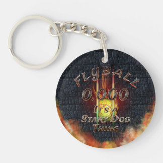 0.000 Flyball Flamz: It's A Start Dog Thing! Keychain