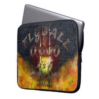 0.000 Flyball Flamz: It's A Start Dog Thing! Laptop Sleeve
