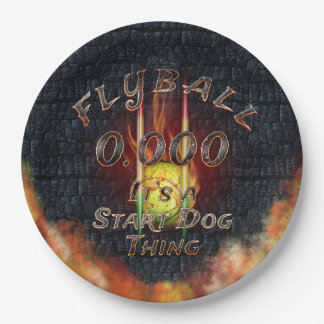 0.000 Flyball Flamz: It's A Start Dog Thing! Paper Plate